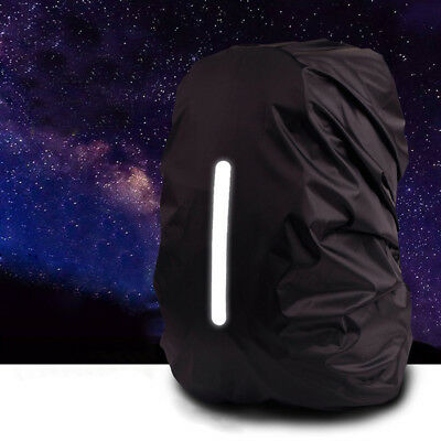 Reflective Waterproof Backpack Rain Cover Night Safety Light Raincover CaseBX