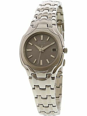 Citizen Women's EW1250-54A Silver Stainless-Steel Eco-Drive Fashion Watch