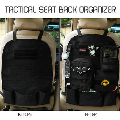 Tactical Car Seat Back Organizer Storage bag Molle Vehicle Panel Pouch Bag Cover