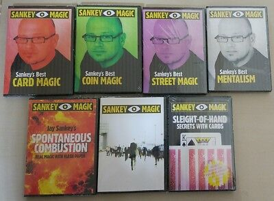 Jay Sankey Magic - 7 Magic Title on 7 DVD Rare Collector Auction Great Magician