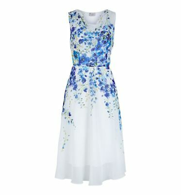 Various Sizes RRP £169. Hobbs Painted Delph Ivory Multi Dress