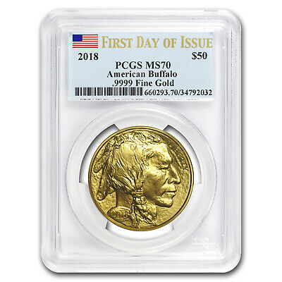 2018 1 oz Gold Buffalo MS-70 PCGS (First Day of Issue) - SKU#181760