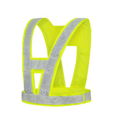 High Vis Safety Rechargeable LED Reflective Vest Jacket Flashing Warning Night