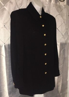 St John Collection Marie Gray Black Santana Knit Jacket 12