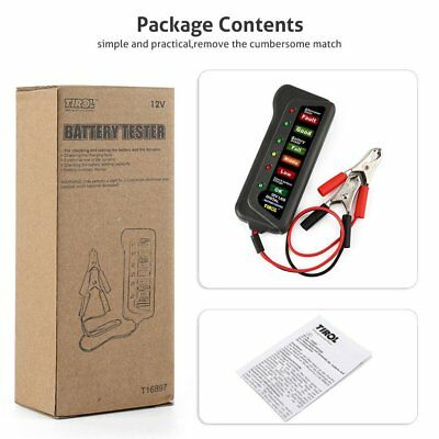 12V Digital Car Battery Tester Ancel Alternator Motorcycle Battery Tester QW