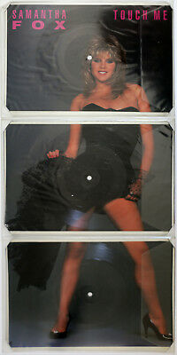 "Samantha Fox Touch Me 12"" Special Triple Record Picture Disc Jive Vinyl 1986"