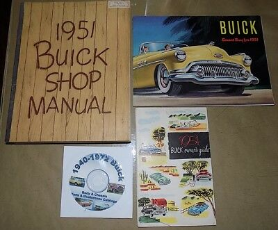 1951 Buick ORIG! Shop_Owners Manual 4 pc SET_Riviera/Special/Roadmaster/Super