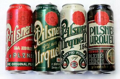 Pilsner Urquell Beer Cans.2018/2. Limited edition.Set of 4. Empty. 0,5 liter USA