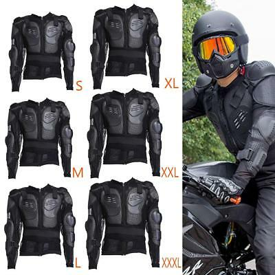 Motorcycle Motocross Body Armor Jacket Spine Chest Shoulder Protection Riding