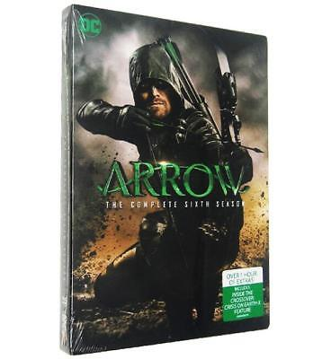 Arrow: The Complete Sixth Season (DVD, 2018, 5-Disc Set) Sealed Ships Fast