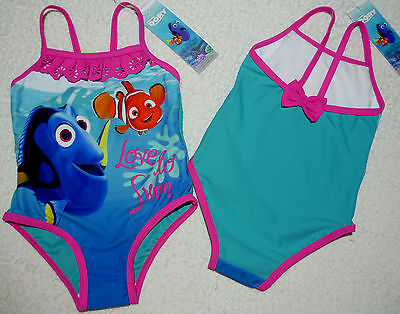 Bnwt Girls Disney Nemo Dory Swimming Costume Swimsuit Swimwear 2 3
