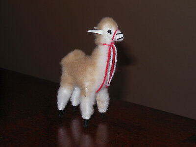One Brand New Alpaca Llama Standing Position Figurine 4 Inches Tall