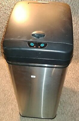 13 Gallon Automatic Sensor Touchless Deodorizer Trash Can with AC Adapter
