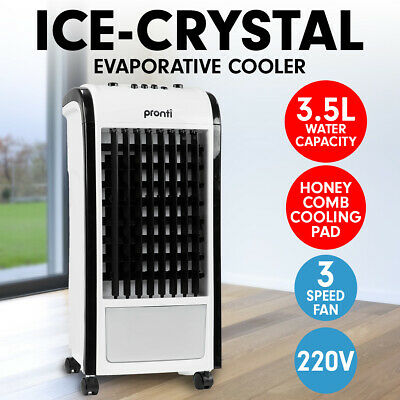 Pronti 3.5L Evaporative Air Cooler Portable Fan Conditioner Cool Mist