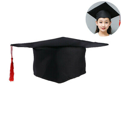 Red Tassel Amosfun Red Graduation Tassel Cap Adjustable Students Doctoral Cap for Graduation Party Adults Kids