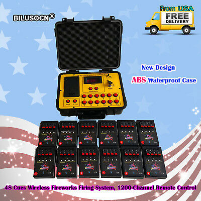 Bilusocn 300M distance+48 Cues Fireworks Firing System remote Control Equipment