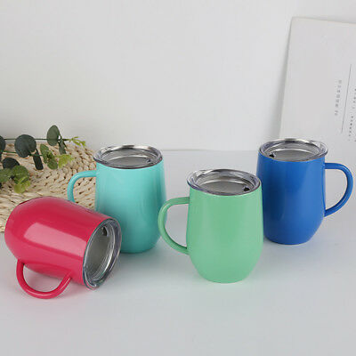 AU Personalised Gift Insulated Thermal Mug Coffee Tea Travel Flask Cup With Lid