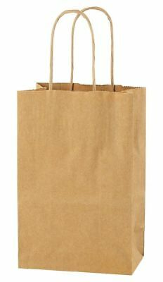 Brown Extra Small Paper Party Bags With Handles Gift Bags Loot 14X21X8Cm