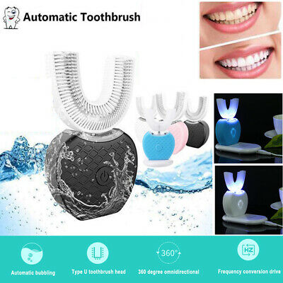 Ultrasonic 360° Whitening Automatic Electric Toothbrush USB Cleaning Teeth Brush