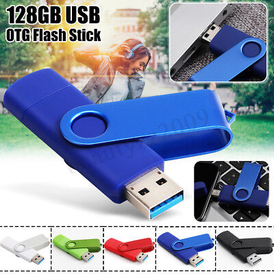 128GB USB 3.0 Memory Stick Flash Drive OTG Pendrive For Mobile Phone Android PC
