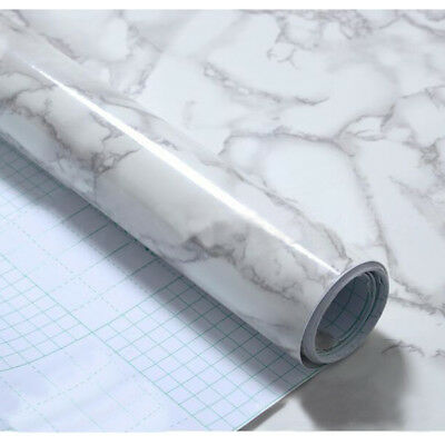 Granite Marble Effect Contact Sticker Self Adhesive PVC Stick Rolling Paper Home