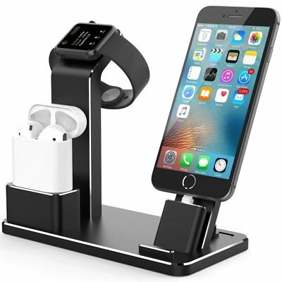 Charging Dock Stand Charger Station For Apple iWatch iPhone X/8/7 Tablet Airpods