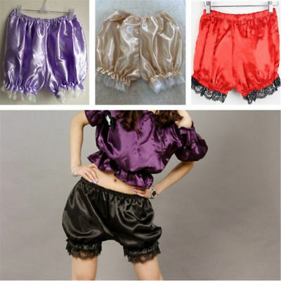 Satin Knickers Panties Pumpkin Bloomer Shorts Underwear Underpants Lace Women