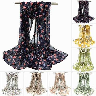 New Fashion Womens Pretty Long Soft Chiffon Scarf Wrap Shawl Stole Scarves Hot