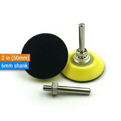 1Pcs 2'' 50mm Hook and Loop Backing Pad Discs 6mm Shank For Drill Sanding Disc