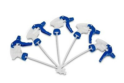 5 x BLUE Trigger Spray Heads Chemical Resistant (hydroponics, Valeting, Bottles)