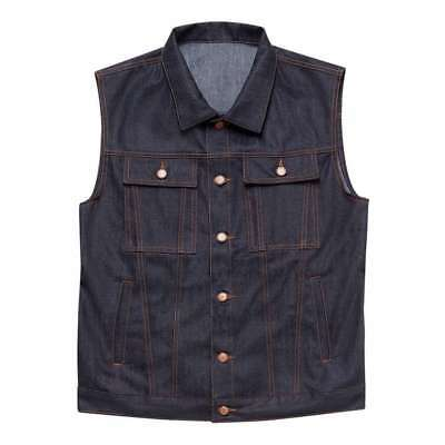John Doe 100% Cotton Denim Motorcycle Vest - Raw