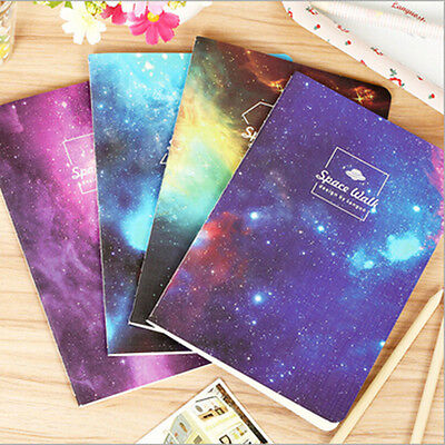 A5 Notebook Multicolor Romantic Starry Sky Note Pads for Diary Stationary Random