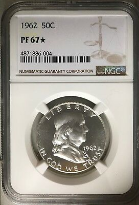 1962 Ngc Certified Pf67 Star Proof Franklin Half Freshly Graded