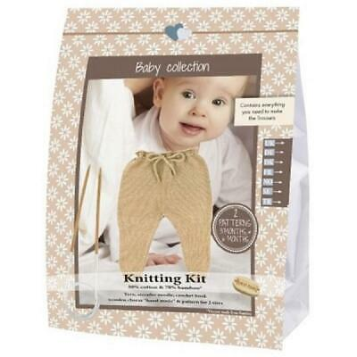 Go Handmade Knitting Crochet Kit Baby Trousers - Walnut