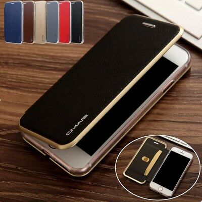 CMai2 For iPhone Xs Max XR X 8 7 6+ Magnetic Flip Leather Wallet Card Case Cover