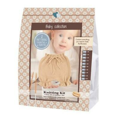 Go Handmade Knitting Crochet Kit Baby Bloomers - Walnut