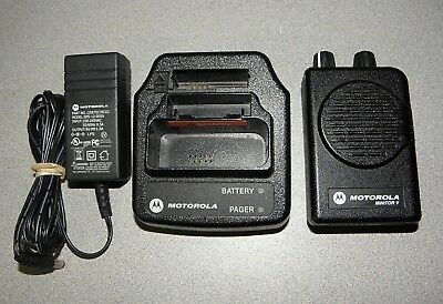 Motorola Minitor V (5) Single Channel VHF Pager 151-158.975 MHz FREE Programming