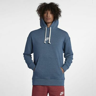 89a0a357d New Men's Nike Sportswear Heritage Pullover Hoodie (928437-474) Blue  Force/Sail