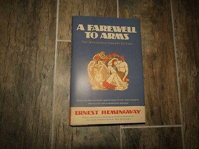 Book Signed Autographed A Farewell To Arms Ernest Hemingway Sean Library Edition