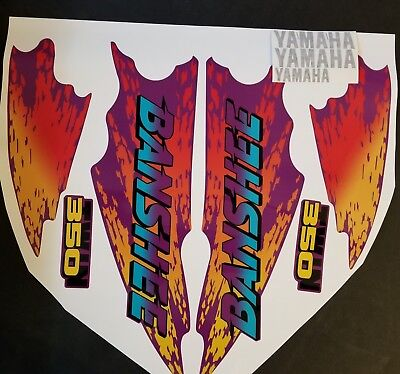 1995 yamaha banshee full graphics kit decals stickers