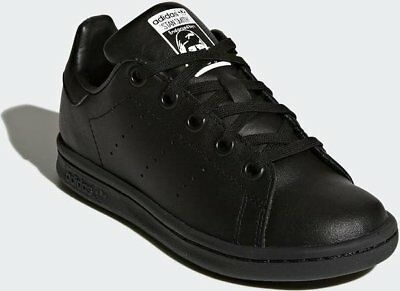 cheap for discount 3a03c c4fed ADIDAS ORIGINALS STAN Smith Junior Boys Trainers Shoes Size 1 Black Leather  Bts