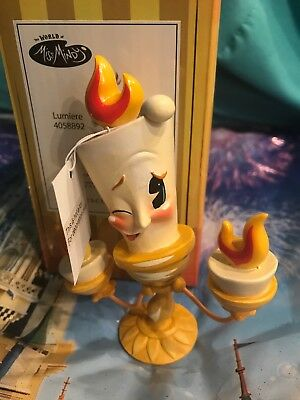 Disney The World of Miss Mindy Lumiere Beauty and the Beast Figurine 4058892 New