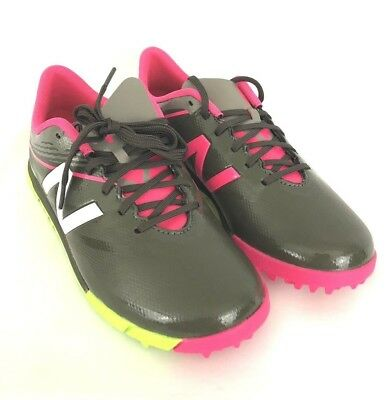 8e383c51a7a8c New Balance Boys Furon 3.0 Dispatch Indoor Soccer Shoe Green Pink Size 3 New