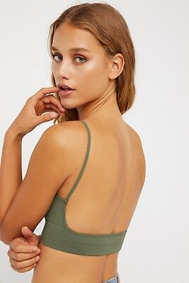 36b58a9d81a Free People Women s Intimately Low Back Bralette Seamless Bra Sexy Crop Top   30