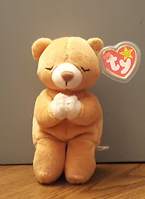 TY BEANIE BABY HOPE Praying Bear Excellent Condition 1998 Retired ... 54097f853e0a