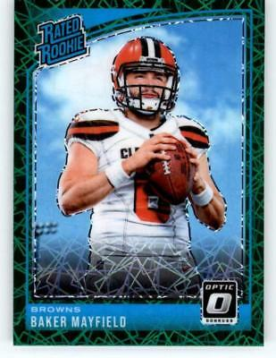 2018 Donruss Optic NFL Football Green Velocity Singles (Pick Your Cards)