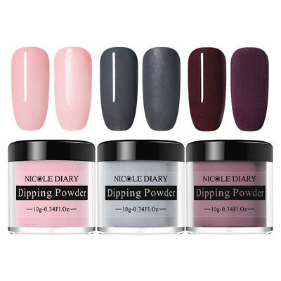 3 Boxes NICOLE DIARY Nail Art Dipping System Powder Dip Natural Dry Manicure DIY