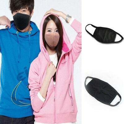 Anti-Dust Black Cotton Mouth Face Mask Respirator Unisex Mens Womens Cycling