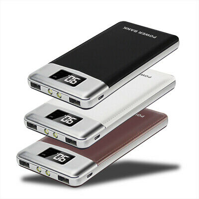AU Portable 2USB 50000mah LCD Power Bank External 2LED Battery Charger For Phone
