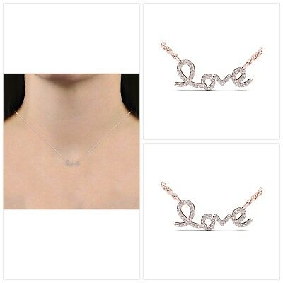 1/6 Carat Diamond 10K Rose Gold Love Necklace